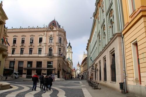 A street in Pécs