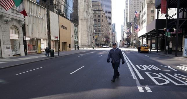 شوارع نيويورك حالية بسبب فيروس كورونا رويترز