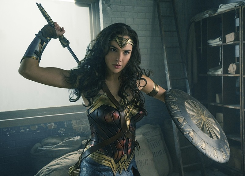 This image released by Warner Bros. Entertainment shows Gal Gadot in a scene from ,Wonder Woman,, in theaters on June 2. (Warner Bros. Entertainment via AP)