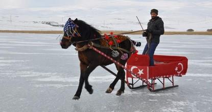 Ride like the wind: Troikas take over frozen Lake Çıldır