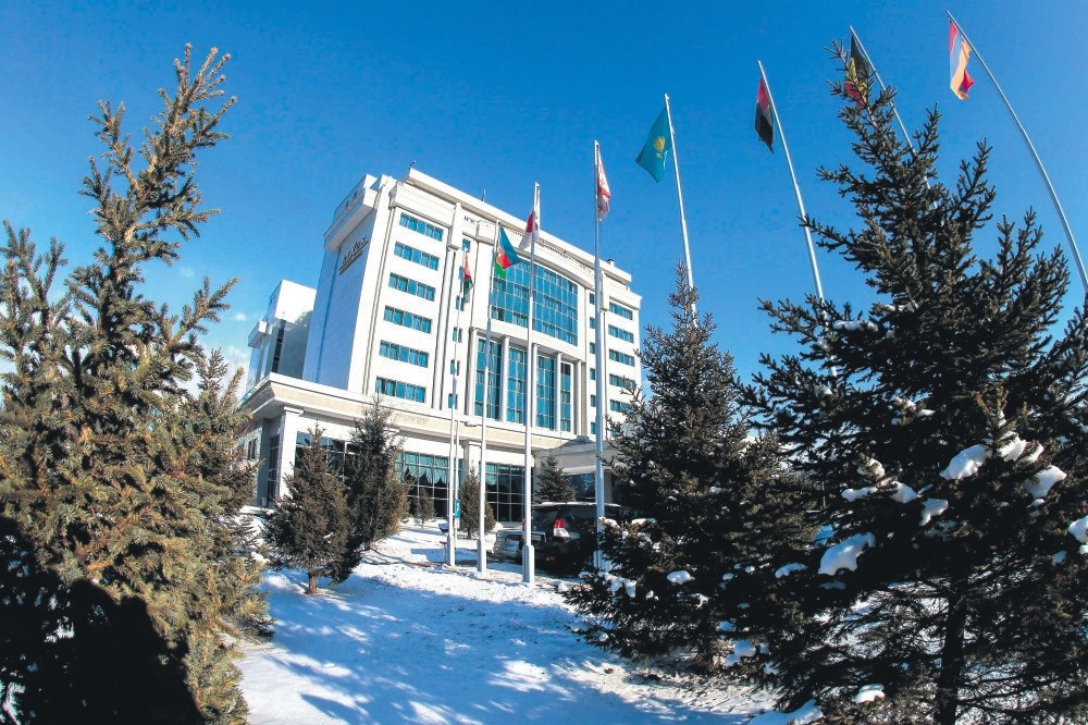 The Astana's Rixos President Hotel is the venue for Syria peace talks backed by Russia, Iran and Turkey, Dec. 21, 2017.