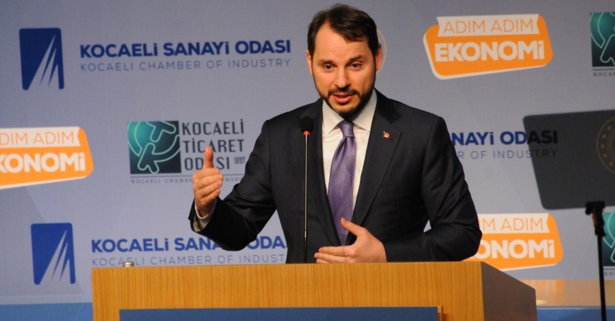 Treasury and Finance Minister Berat Albayrak addressed the businesspeople in Kocaeli and explained the recent improvements in the Turish economy, March 6, 2019.