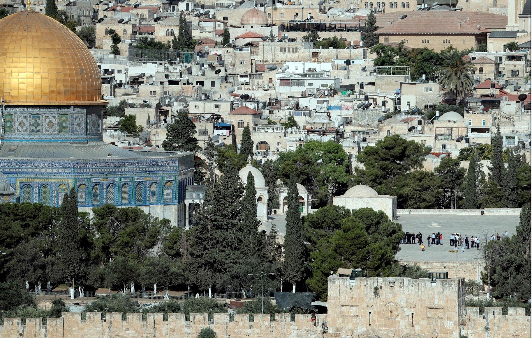 The Al-Aqsa mosque compound in Jerusalem's Old City.