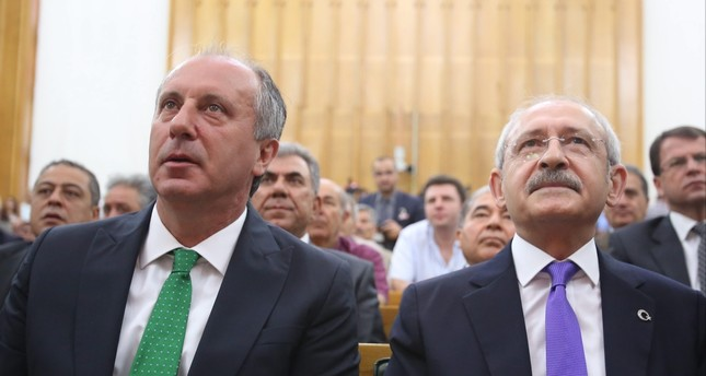 Following the elections on June 24, dissidents from the CHP officially launched a process to hold an extraordinary convention with the aim of replacing Kemal Kılıçdaroğlu (R) with Muharrem İnce (L).