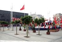 Durch mehreren frisch gepflanzten Bäumen erhält der historische Taksim-Platz, einer der meistbesuchten Orte in Istanbul, einen neuen Glanz.  Mitarbeiter der Stadt Istanbul pflanzten dort am...