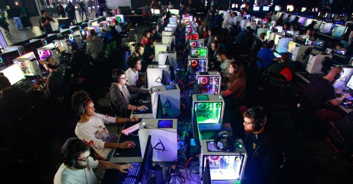 Gamers compete at an international gaming convention in Atlanta, Georgia. (AFP)