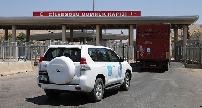 معبر باب الهوى من الطرف التركي (الأناضول)