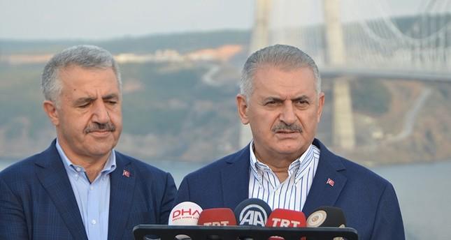 يلدريم من جسر اسطنبول الثالث: سنواصل تقديم مشاريع تليق بمواطنينا