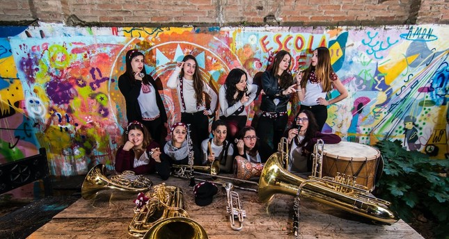Balkan Paradise Orchestra, comprised of nine women musicians from Barcelona, will take the stage as part of the Jazz in the Parks program.