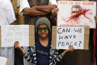 Thousands of Indians gathered in several cities Wednesday to protest recent violent attacks across the country targeting minority Muslims.