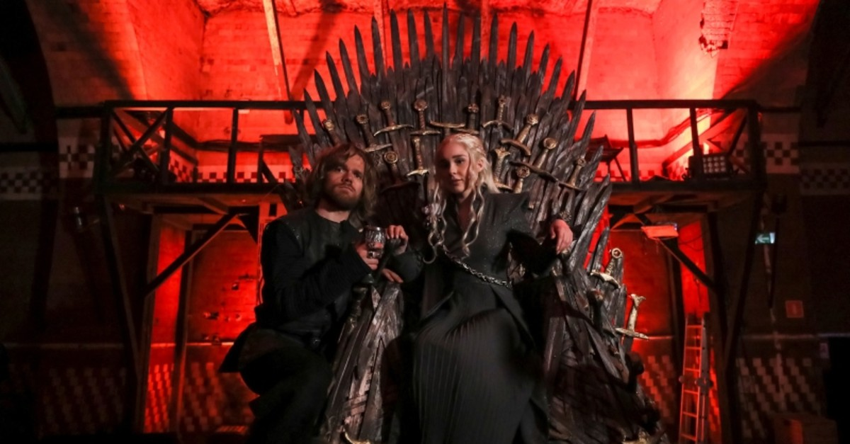 Fans of TV series ,Game of Thrones, take part in a cosplay contest ahead of the series' final premiere in Moscow, Russia, May 18, 2019. (Reuters Photo)