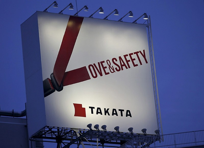 A billboard advertisement of Takata Corp is pictured in Tokyo September 17, 2014. (Reuters Photo)