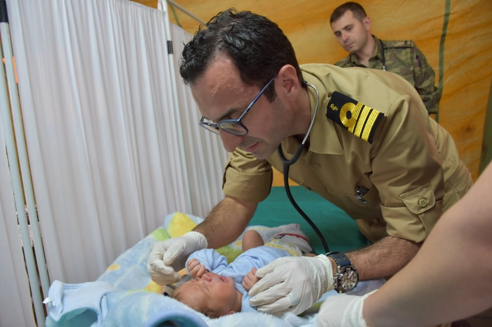 Some 634 children have been treated at the hospital by the Turkish military in Afrin.