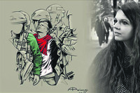 An Italian artist who recreated the photograph of a 16-year-old Palestinian boy being arrested by Israeli troops has spoken of the need to show solidarity with Palestine. The photograph of...