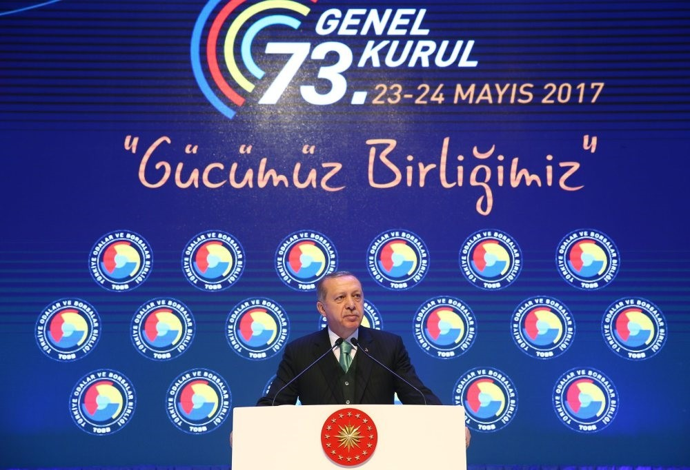 In his address to the TOBB members, President Erdou011fan reiterated his call to the business people for the manufacture of an local automobile.