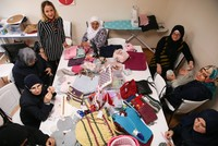 Knitting their dreams, Syrian refugee women create new brand