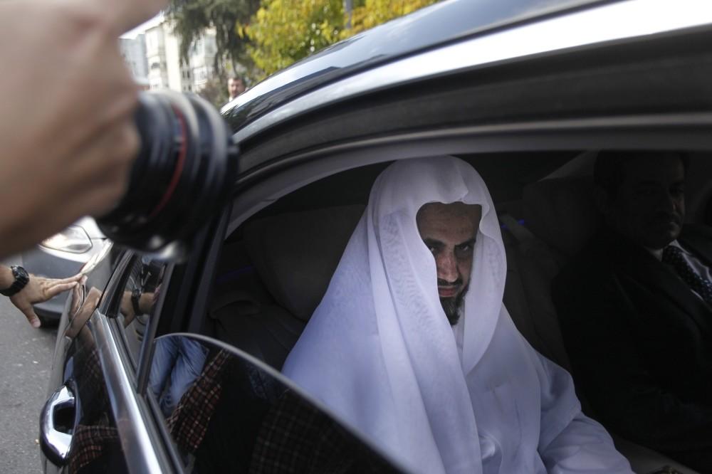 Saudi Attorney General Saud Al-Mojeb arrives at Saudi Consulate in Istanbul, Oct. 30.