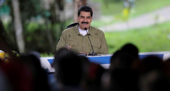 Venezuela's President Nicolas Maduro speaks during his weekly broadcast Los Domingos con Maduro (The Sundays with Maduro) in Caracas, Venezuela August 6, 2017.