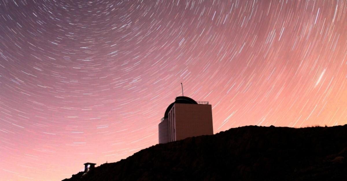 This file photo dated September 21, 2015 shows the 1.5-meter diameter RTT 150 telescope located at the Tu00dcBu0130TAK National Observatory established at the 2,500-meter long Baku0131rlu0131tepe summit near Saklu0131kent, Antalya, southern Turkey. (AA Photo)