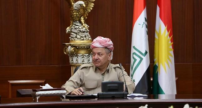 President of the Iraqi Kurdistan Regional Government KRG Masoud Barzani  AA Photo