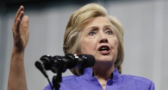 Democratic presidential candidate Hillary Clinton speaks in Scranton, Pennsylvania.