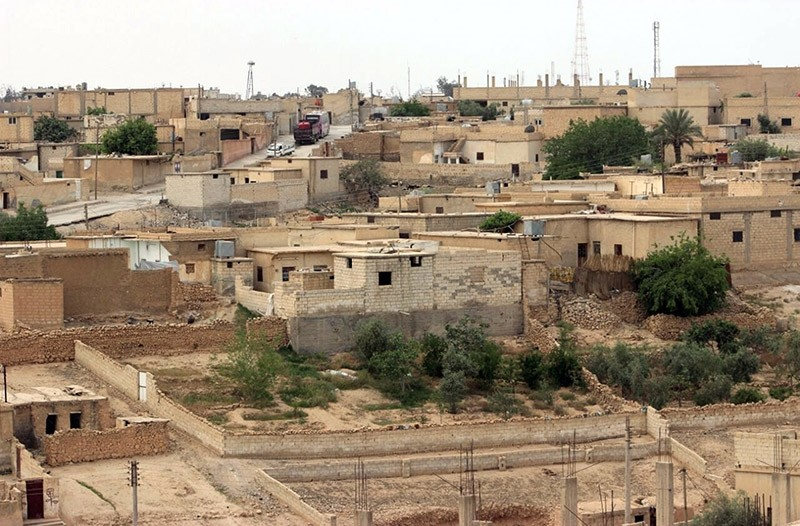 This Sunday, April 30, 2017 photo provided by the Syrian Democratic Forces (SDF), shows a general view of the northern town of Tabqa, Syria. (AP Photo)
