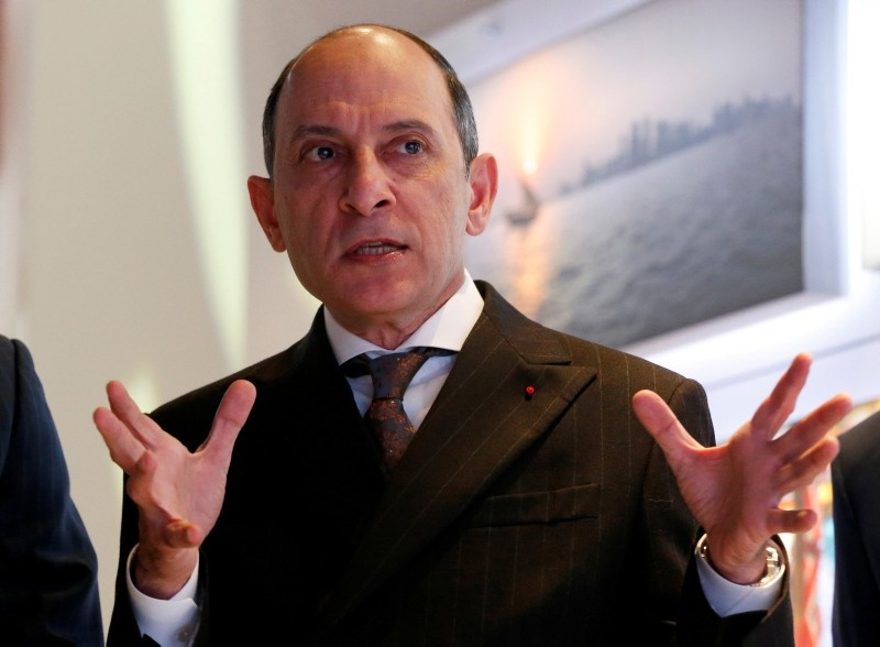 Qatar Airways Chief Executive Akbar Al Baker gestures as he tours the exhibition stand of the company at the International Tourism Trade Fair (ITB) in Berlin, Germany, March 9, 2016. (Reuters Photo)