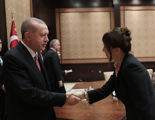 أردوغان يستقبل عدداً من الفنانين وممثلي قطاع السينما والتلفزيون