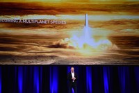 Futurist and inventor Elon Musk unveiled ambitious plans Friday to send cargo ships to Mars in five years and use rockets to carry people between Earth's major cities in under half-an-hour.  The...