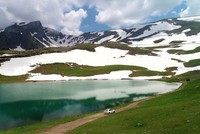 Scenic mountaintop lakes of northeastern Turkey await visitors in the summer
