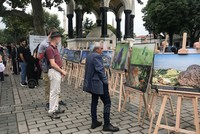 Photographs of Palestinian community on display at historic Sultanahmet Square in Istanbul