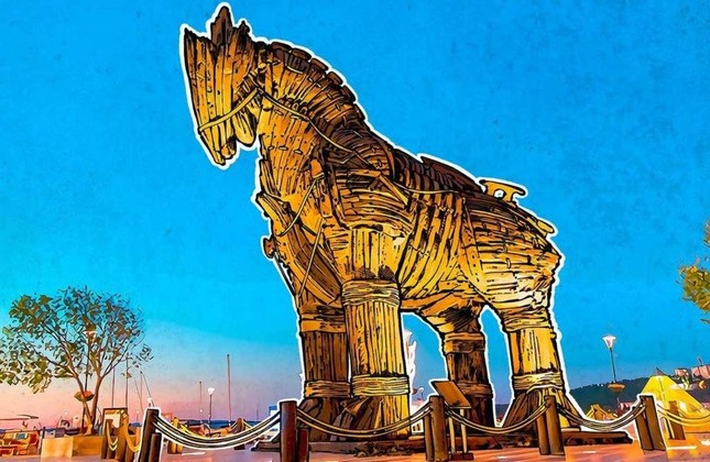 Artifacts like the Trojan Horse will be examined by children at the workshop.