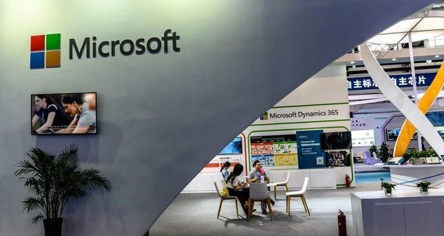 A Microsoft booth at the 12th China-Northeast Asia Expo in Changchun city, northeast China's Changchun province, August 23, 2019. (Imagine China via REUTERS)