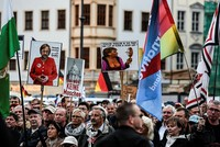 In the shadows of a Dresden church, hundreds of Alternative for Germany party members rallied with anti-Islam protesters, counting down the days to a vote set to make the AfD the first far-right...