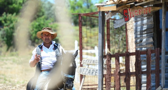 Nomadic man builds Wild West-style cowboy town in Turkey's southern Antalya province