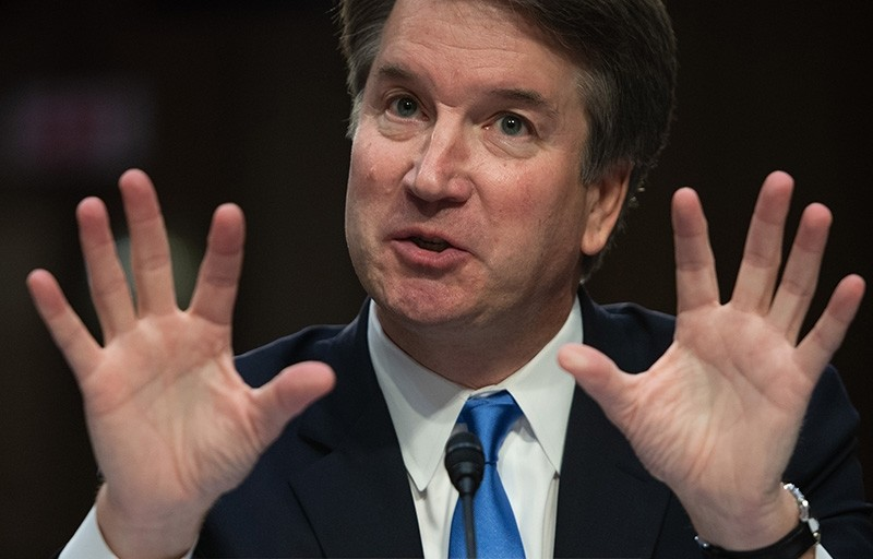 In this file photo taken on Sept. 5, 2018, U.S. Supreme Court nominee Brett Kavanaugh speaks on the second day of his confirmation hearing in front of the U.S. Senate in Washington D.C. (AFP Photo)