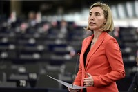 EU's Mogherini lobbies US Congress to save Iran nuclear deal amid Trump opposition