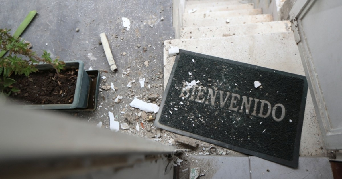 Damage is seen at the residence of Roberto Marrero, chief of staff to opposition leader Juan Guaido, after he was detained by Venezuelan intelligence agents, according to legislators, in Caracas, Venezuela, March 21, 2019. (Reuters Photo)