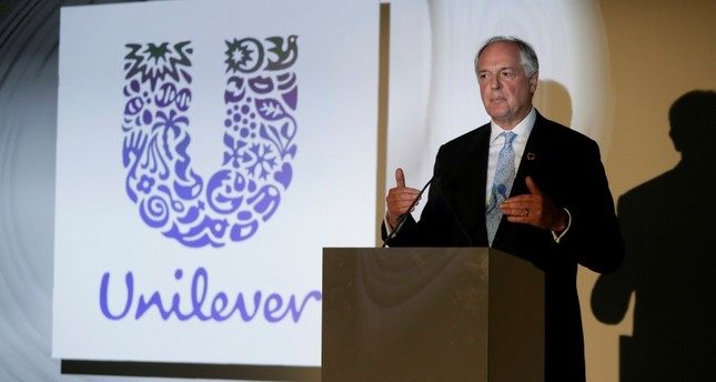 In this May 18, 2017, file photo the Dutch CEO of Unilever Paul Polman gives a speech at the launch of the New Plastics Economy Innovation Prize at the Saatchi Gallery in London. (AP Photo)