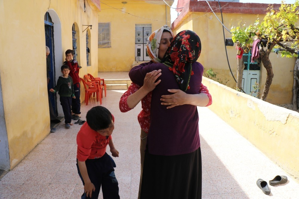 Farida Ahmad, who could not see her sister Najah Ahmad for seven years due to YPG brutality, was able to finally reunite with her sibling after the Turkish Armed Forces (TSK) and the Free Syrian Army (FSA) liberated the city.