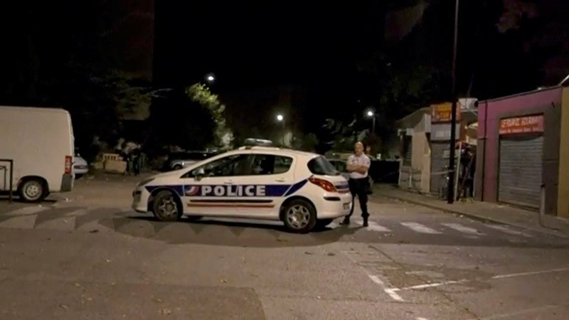 A police officer stands guard on a street near a scene of a shooting in front of a mosque, in this still image from video, in Avignon, France July 3, 2017 (Reuters Photo)