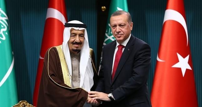 أردوغان يهنّئ الملك سلمان باليوم الوطني للسعودية