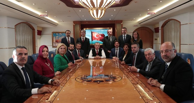 Speaking to journalists on his way back to Turkey, President Recep Tayyip Erdoğan said he told several world leaders that the order for Khashoggi's murder was made by the high echelons of Saudi hierarchy.