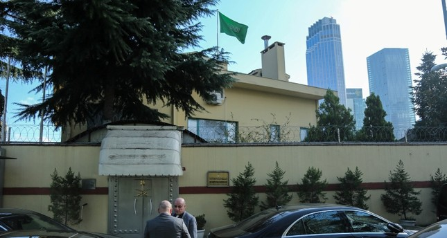 The Saudi consulate building in Istanbul. (DHA Photo)