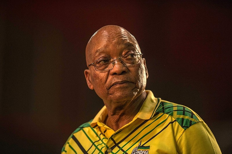 This file photo taken Dec. 16, 2017, shows South Africa's president Jacob Zuma speaking during the 54th ANC (African National Congress) national conference in Johannesburg. (AFP Photo)