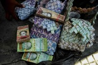 Worthless currency becomes art in struggling Venezuela