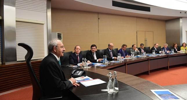 CHP leader Kemal Kılıçdaroğlu chairs the party's Central Executive Board (MYK) meeting in Ankara. (IHA Photo)
