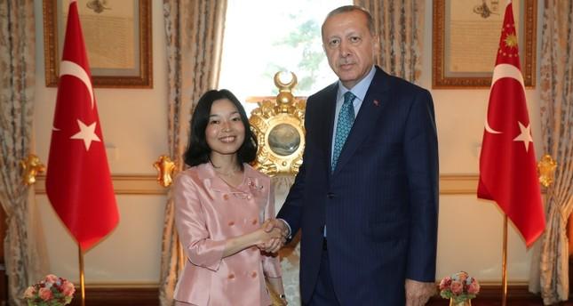 Präsident Erdoğan empfängt japanische Prinzessin Akiko in Istanbul