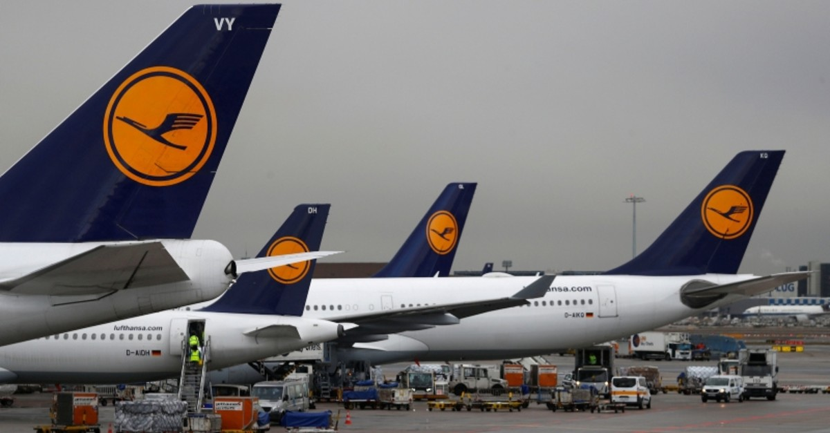 Planes of German air carrier Lufthansa are seen at Germany's largest airport, Fraport, in Frankfurt, Germany, January 14, 2019. (Reuters Photo)