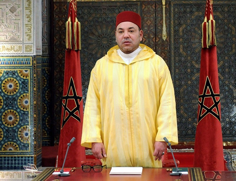 King Mohammed VI of Morocco delivers a speech. (AFP File Photo)